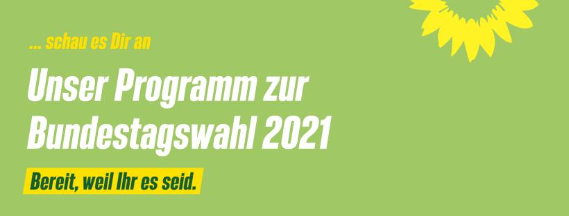 Unser Bundestagswahlprogramm